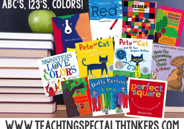 Back to School Books for Week 3: ABCs, 123s, and Colors!