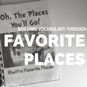 Oh, The Places They'll Go! Using Favorite Places to Engage Your Students in Reading