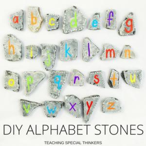 DIY Alphabet Stones