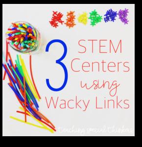 3 Easy STEM Centers Using Wacky Links