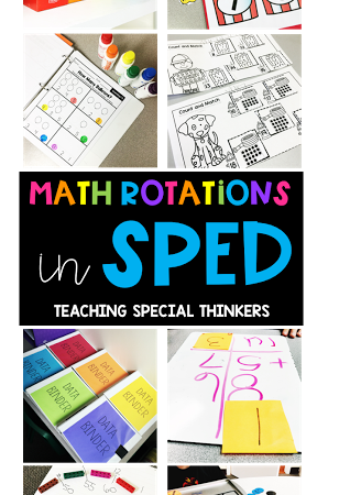 Math Rotations in a SPED Classroom