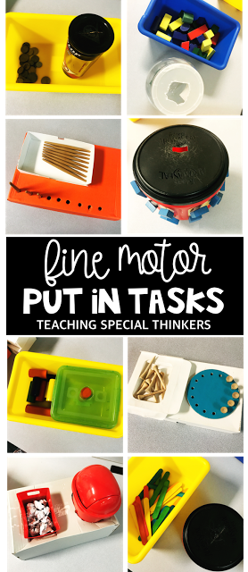 easy put in tasks for special education