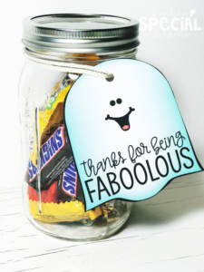 Halloween Goodies for Students and Staff Members (FREEBIE LABELS)
