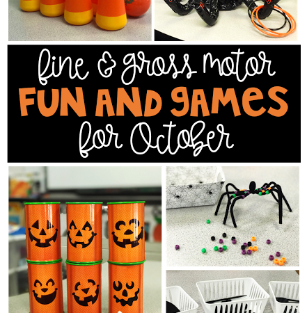 Fine and Gross Motor Fun and Games for October
