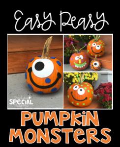 Easy Peasy Pumpkin Monsters