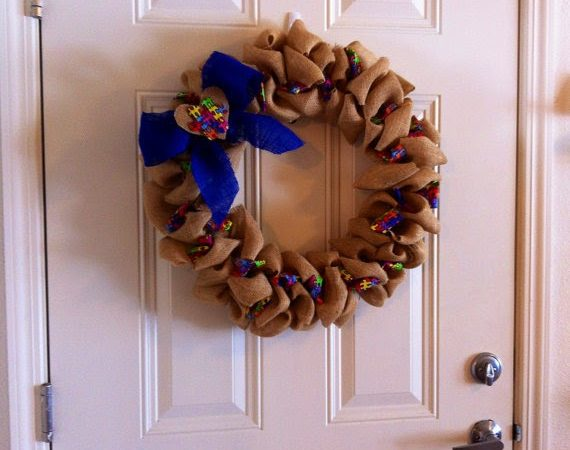 Day Three of our Autism Awareness Giveaway {Ryan's Wreath}