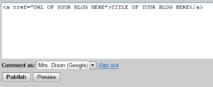 How to add your blog link to a comment