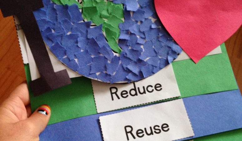 Earth Day Activities {Craftivity Foldable, Audio Book, Student Readers, & Take Home Activity}