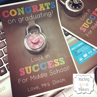 Lock in Success – Student Gift for soon to be Middle Schoolers!