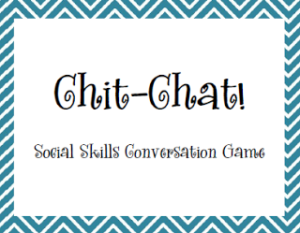 A little chat about social skills – FREEBIE
