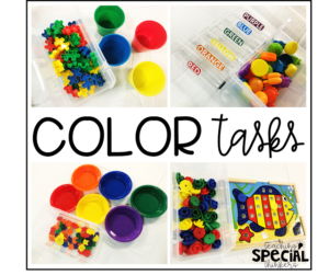 Color Matching and Color Sorting Work Tasks