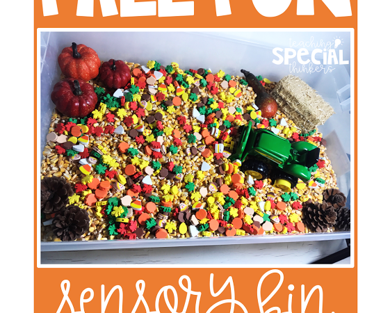 November Sensory Bin – Fall Farm Fun!