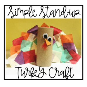 Simple Stand-up Turkey Craft