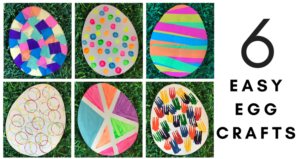 6 Easy Egg Crafts (Free Printable Template)