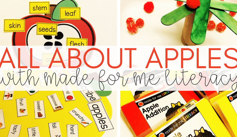 Learning All About Apples with the Made For Me Literacy Curriculum
