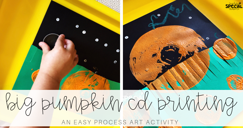 Big Pumpkin CD Printing: An Easy Process Art Activity