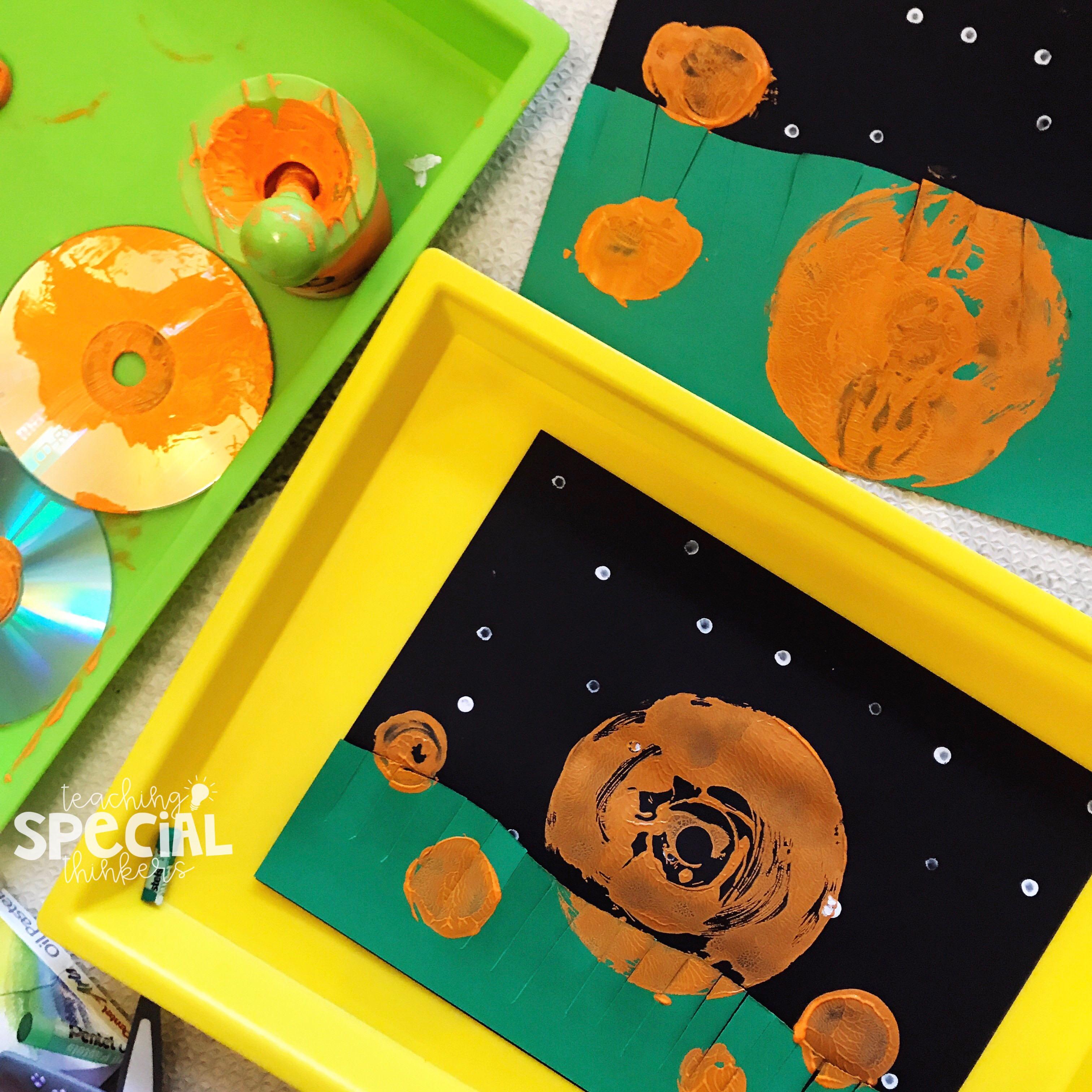 Big Pumpkin CD Printing: An Easy Process Art Activity - Teaching