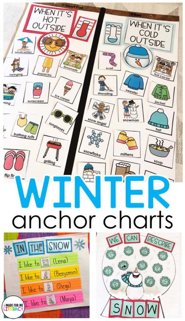winter anchor charts