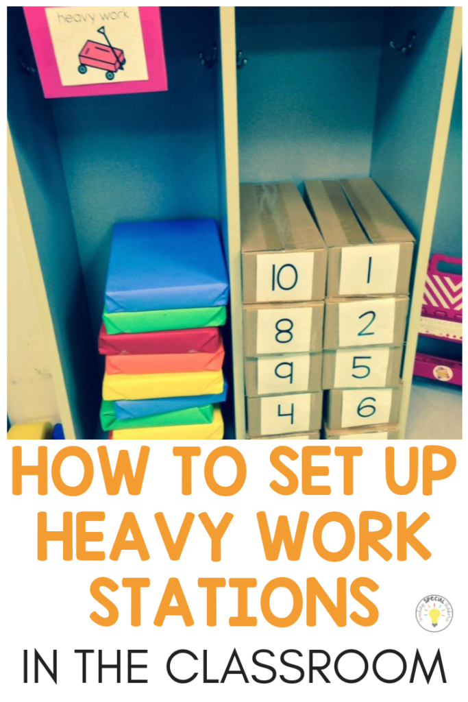 heavy work stations in the classroom