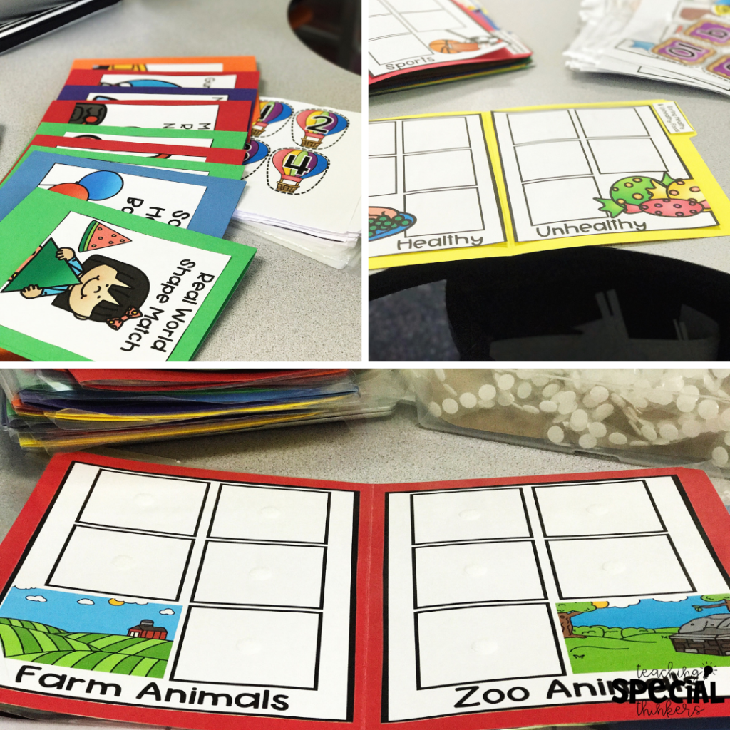 file folder prep for special education