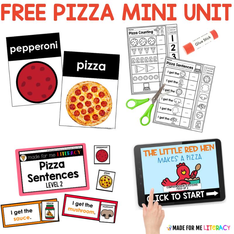 free pizza mini unit for kids