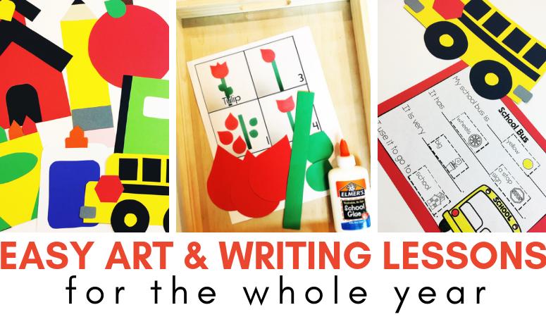 Art and Writing Center Lessons for the WHOLE YEAR!