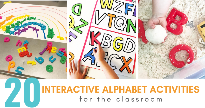 20 Interactive Alphabet Activities To WOW Your Kids - Teaching Special  Thinkers
