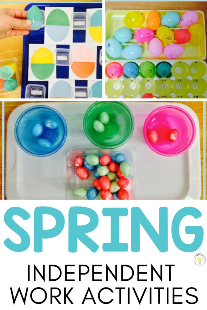 spring independent work activities