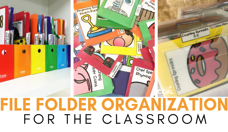 Organizing File Folders for Independent Work Stations