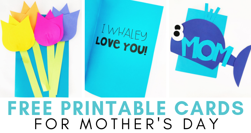 image relating to Free Printable Funny Mothers Day Cards referred to as Free of charge Moms Working day Card Printables - Training Exclusive Thinkers